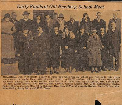 Early Pupil of Old Newberg Schools