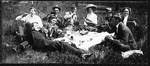 Picnic Postcard by George Fox University Archives