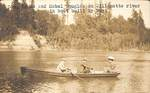 Don, Bruce and Mabel Douglas on the Willamette River by George Fox University Archives