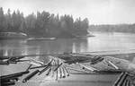 River Scene at Newberg, Postcard by George Fox University Archives