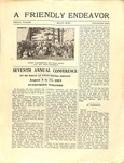 Friendly Endeavor, Special Convention Issue, July 1924