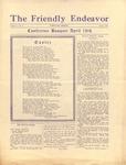 Friendly Endeavor, April 1928