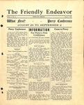Friendly Endeavor, August 1928