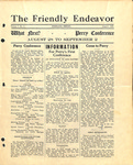 Friendly Endeavor, August 1928