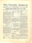 Friendly Endeavor, June 1929
