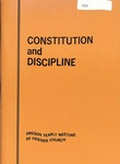 Constitution and Discipline, Oregon Yearly Meeting of Friends Church 1970 by George Fox University Archives