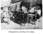 Evangelists leaving for camp