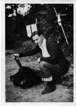 Sanford Brown with Original Bruin Pelt -- Class of 1929