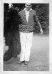 Student with Original Bruin Pelt by George Fox University