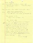 David Rawson Notes: Summer 1994
