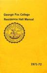 Student Handbook, 1971-1972 Residence Hall Manual
