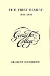 Student Handbook, 1981-1982 by George Fox University Archives