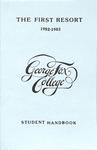 Student Handbook, 1982-1983