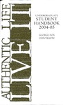Student Handbook, 2004-2005 by George Fox University Archives