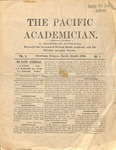 """The Academician"" Student Newspaper, October 1890"