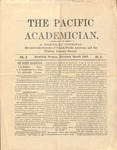 """The Academician"" Student Newspaper, November 1890"