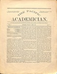 """The Academician"" Student Newspaper, April 1891 by George Fox University Archives"