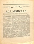 """The Academician"" Student Newspaper, February 1891 by George Fox University Archives"