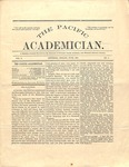 """The Academician"" Student Newspaper June 1891"