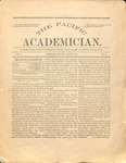 """The Academician"" Student Newspaper March 1891"