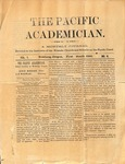 """The Academician"" Student Newspaper, December 1890"