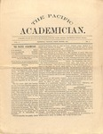 """The Academician"" Student Newspaper, January 1891"
