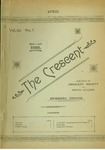 """""""The Crescent"""" Student Newspaper, April 1892 by George Fox University Archives"""