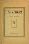"""The Crescent"" Student Newspaper, December 1912 by George Fox University Archives"