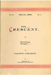 """The Crescent"" Student Newspaper, March 1898"
