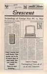 """The Crescent"" Student Newspaper, November 20, 1998 by George Fox University Archives"