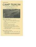 Announcement of Camp Tilikum in 1971
