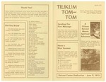 First Announcements and Updates from Tom-Tom in Spring 1972 from Camp Tilikum