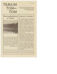 Camp Tilikum Announcements and Updates from Tom-Tom in Fall of 1974