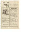 Camp Tilikum Announcements and Updates from Tom-Tom Winter-Spring 1975
