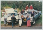 Group Photo on Trucks at Camp Tilikum by George Fox University Archives