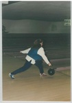 Lady at the WMBA Annual City Tournament Bowling by George Fox University Archives