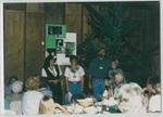 People Standing and Talking at Camp Tilikum by George Fox University Archives