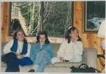 Three Ladies Sitting on a Couch at Camp Tilikum by George Fox University Archives
