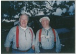 Two Men Standing Outside at Camp Tilikum by George Fox University Archives