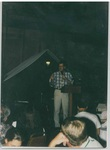 Man Speaking to a Crowd at Camp Tilikum by George Fox University Archives