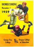 Football Program Homecoming 1959, Part 1. by George Fox University Archives