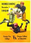 Football Program Homecoming 1959, Part 1.