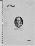 1939 L'Ami Yearbook